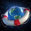 Saving planet Earth - Stockfoto