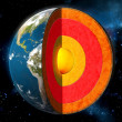 Earth core — Stockfoto