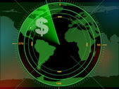 Money radar — Stock Photo