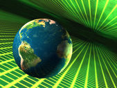 Earth in cyberspace — Stock Photo