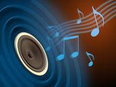 Music playing — Stock Photo
