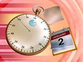 Tijd vliegen — Stockfoto