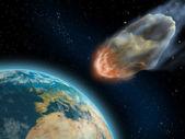 Asteroid impact — Stock Photo
