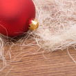 Royalty-Free Stock Photo: Christmas decoration with red bauble