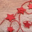 Christmas decoration with red stars — Lizenzfreies Foto