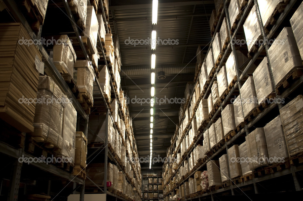 Landspace photo of internal warehouse   Stock Photo #3871812