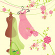 Pink and green fashion image - Stock Photo