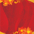Red gold flowers blank — Stock Photo #2755050