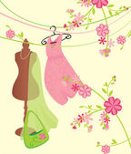Pink and green fashion image — Stock Photo