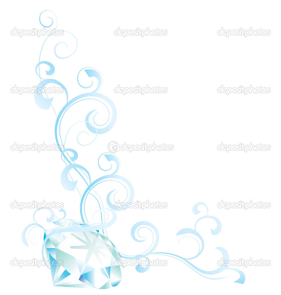 Blue diamond flourishes — Stock Photo #2755040