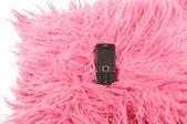Phone on pillow — Stock Photo