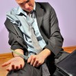 Depressed businessman — Stock Photo