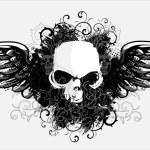 Vector skull — Stock Vector