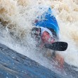 Freestyle on whitewater - Stock Photo
