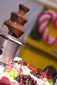 Chokolate fountain — Stock Photo