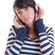 Royalty-Free Stock Photo: Pretty brunette with headphones