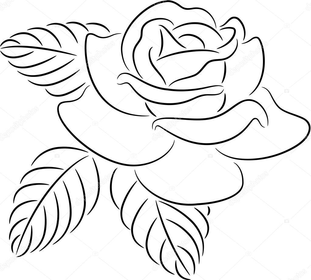 Контурные цветы