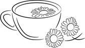 Camomile tea — Stock Vector