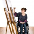 Girl on wheelchair — Stock Photo #2743102