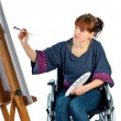 Girl on wheelchair — Stock Photo #2743115