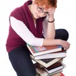 Girl with books — Stock Photo #2882805