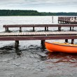 Orange Boat — Stock Photo