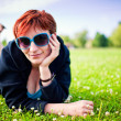 Girl on grass — Stock Photo #3488987