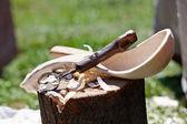 Cucchiaio di legno d'epoca — Foto Stock