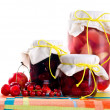 Jars of jams — Stock Photo