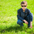 Cool country boy with sunglasses — Stock Photo