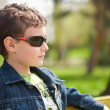 Closeup of a cute kid outdoor — Stock Photo