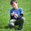 Gorgeous boy in a grass field — Stock Photo #2844993