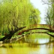 Bridge over water in park - Foto Stock