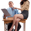 Office flirting — Stock Photo