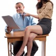 Office flirting - Stock Photo