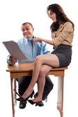 Office flirting — Stock Photo