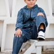 Handsome little boy outdoors — Stock Photo