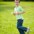 Boy running on a meadow — Stock Photo #2894476