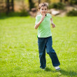 Boy running on a meadow — Stock Photo #2894481