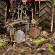 Tractor plowing — Stock Photo