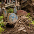 Stock Photo: Tractor plowing