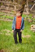 Cute kid outdoors — Stock Photo