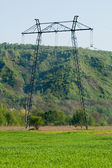 Power line pole — Stock Photo
