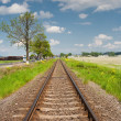 Railroad going into the distance - Stock Photo