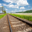 Railroad going into the distance - Stockfoto