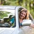 Caucasian lady with new car — Stock Photo #3222169