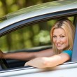 Beautiful girl enjoying her new car — Stock Photo #3222174