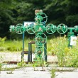 Old gas valve system - Stockfoto