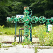 Old gas valve system - Stock Photo