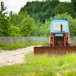 Vintage bulldozer - Stock Photo